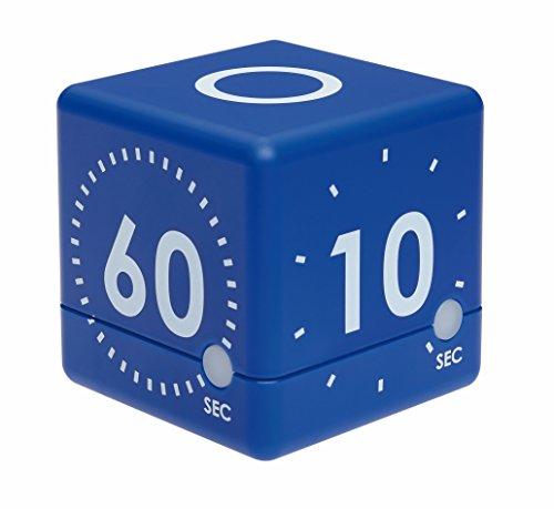 TFA Dostmann Digitaler Cube Timer, Kunststoff, blau, 6 x 6 x 6 cm
