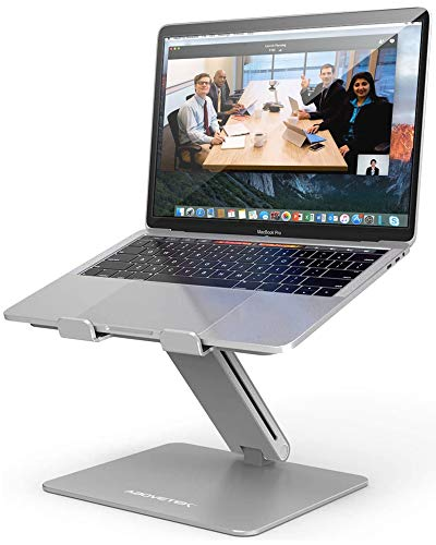 AboveTEK Laptop Ständer, Notebook Ständer mit Verstellbar Multi-Winkel, Laptopständer für MacBook Pro/Air, Computer, Samsung, Surface Laptop (10-17 Zoll) - Silber