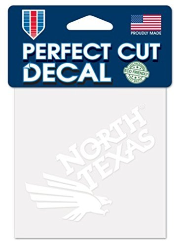 NCAA University of North Texas Mean Green Logo 4' x 4' inch Outdoor White Decal