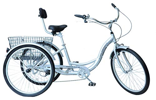AMMACO FREE AND EASY 26' WHEEL ALLOY 3 WHEEL ADULT TRICYCLE,CARGO TRIKE ,DISABILITY ,LIGHT & LARGEST...