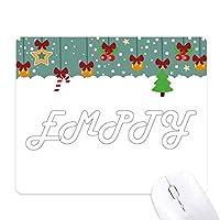 スマートな性格の空 ゲーム用スライドゴムのマウスパッドクリスマス