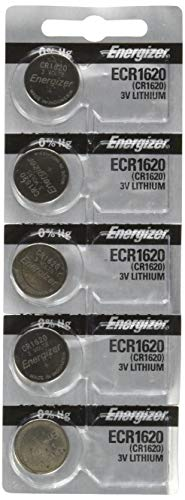 Energizer CR1620 Lithium Battery, 5-Pk