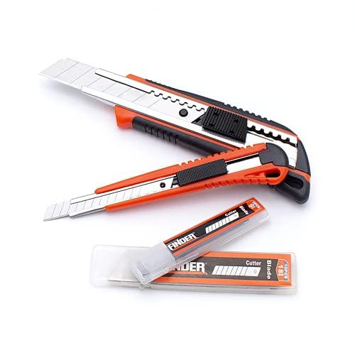 FINDER DJ191779P Utility Knife, Snap Knives Set with 20 pcs...