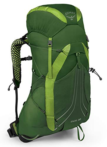 Osprey Exos 38 Men's Backpacking Backpack, Tunnel Green, Large