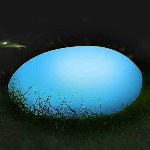 Albrillo RGB Solarlampe Außen - LED Solar Gartenleuchten mit Fernbedienung, Durchmesser 50cm mit 8 Farben, 1200mAh USB Aufladbar Solarleuchten, Wasserdicht IP68 für Teich und Garten