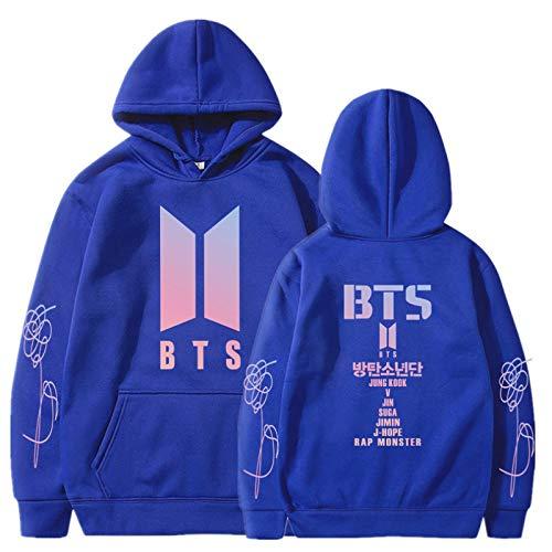 EMPERSTAR Kapuzenpullover Jungen BTS Merchandise Langarm Sweatshirt Pullover 3D Sweatshirt Frauen Jungen Mädchen Hoodies 3D Cool Hoody S.