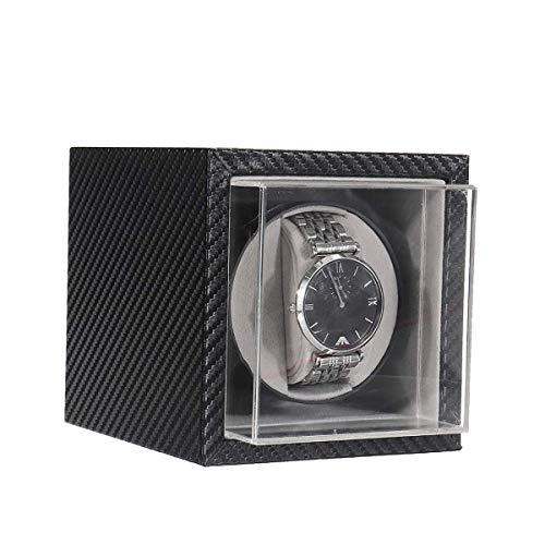Caja De Relojes Enrollador De Reloj DoméStico Para Caja De Reloj MecáNico AutomáTico Agitador De Motor Silencioso Enrollador AutomáTico De Reloj Caja De Relojes De Fibra De Carbono Caja De Almacenamie