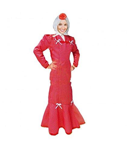 Disfraz Chulapa Mujer Rojo Lunar Blanco (XL)