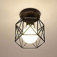 CAIMEI シャンデリアアイアン天井ランプレストランバルコニースタディホールウォークホール照明回廊黒Led,ブラック