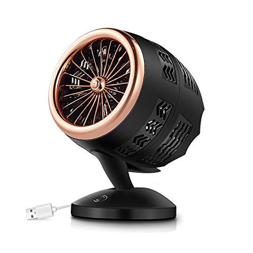 MKXULO Mini Calentador eléctrico portátil, Ventilador, máquina calentadora de Invierno, radiador de Estufa Giratorio USB, de Escritorio para el hogar y el Coche,1
