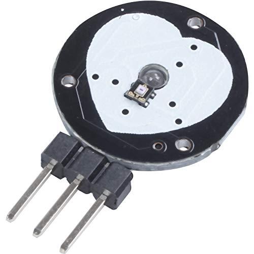 SODIAL(R) Pulse Sensor Heart Rate Sensor Heart Beat PulseSensor for Arduino Raspberry pi,black&red