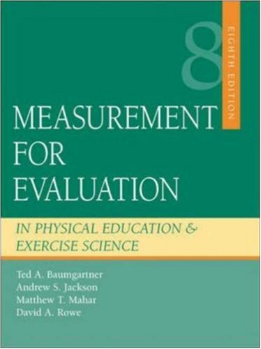 Measurement for Evaluation in Physical Education and...