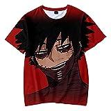 HUANHE Mein Held Academia Dabi 3D-Gedrucktes T-Shirt Frühjahr/Sommer Kurzarm-T-Shirt Harajuku Für Erwachsene Und Kinder