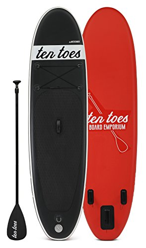 Retrospec Weekender 10' Inflatable Stand Up Paddleboard Triple Layer Military Grade PVC iSUP Bundle w/ paddle board carrying case, aluminum paddle, removable nylon fins, manual pump & cell phone case, PUMP & PADDLE, Blue & White