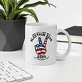 N\A Taza de café Divertida de cerámica de 11 oz, elección 2020, Signo de la Paz, Bandera Estadounidense, Taza Vintage de Trump Biden, Regalos para Navidad y Acción de Gracias