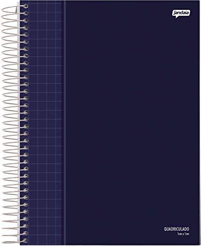 Caderno Quadriculado Universitário, Jandaia 59362, Multicor, 4 unidades