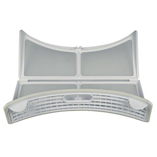 ORIGINAL Whirlpool Bauknecht 480112101511 Feinfilter Filter Filtertasche ausklappbar Sieb Wäschetrocknerflusenfilter Flusensieb 310 x 270 x 70 mm weiß Wäschetrockner Trockner