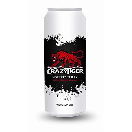 CRAZY TIGER - Boisson Energissante Canette 500Ml - Lot De 4 - Livraison Gratuite