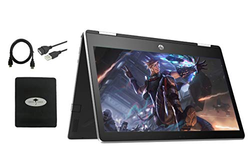 2020 Newest HP Pavilion x360 2in1 11.6' Touch-Screen Laptop for Business and Student, Intel Pentium N5000 4-core, 4GB Memory, 512GB SSD, USB Type A&C, Webcam, WiFi, HDMI, Win10, w/GM Accessories