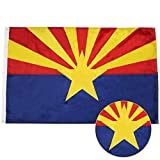G128 - Arizona State Flag | 3x5 feet | Double Sided Embroidered 210D - Indoor/Outdoor, Brass Grommets, Heavy Duty Polyester, 2-ply