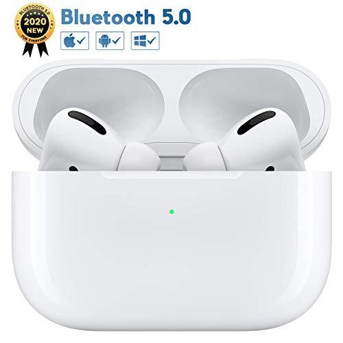 Kopfhörer Kabellos Bluetooth Kopfhörer mit Tragbare Ladehülle, 24 Stunden Spielzeit, In-Ear-Kopfhörer mit Immersiven 3D Stereo und Mikrofon für Apple Airpods/iPhone/Android
