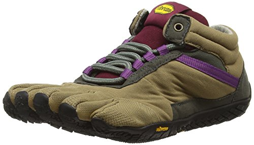Vibram FiveFingers Trek Ascent Insulated, Chaussures Multisport Outdoor Femme, Marron (Khaki/Grape), 41 EU