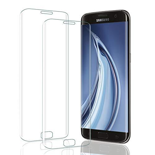 UNIY Panzerglas Schutzfolie für Samsung Galaxy S6 Edge, [2 stück] 9H Härte Panzerglasfolie [Anti-Bläschen] [Anti-Kratzen] [Anti-Fingerabdruck] Panzerglas Displayschutzfolie für Galaxy S6 Edge
