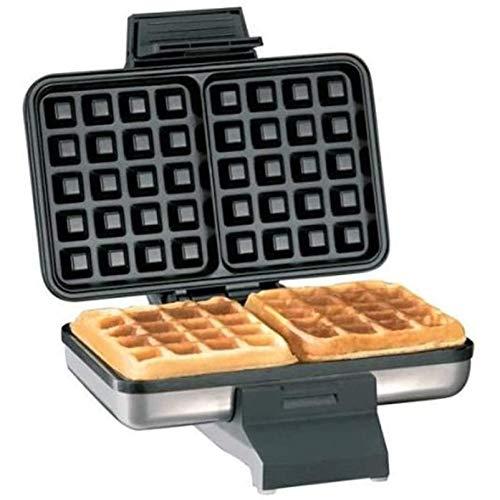 LOVEHOUGE Plancha para Hacer Gofres Doble De Dos Rebanadas, Máquina para Hacer Gofres Cuadrados 1000W, Máquina para El Desayuno En Casa, Máquina para Hornear Muffins De Doble Cara