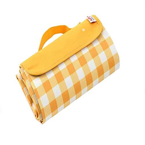 MUFENA Manta de picnic al aire libre de 145 x 80 cm, impermeable para 2 – 3 personas, manta de playa plegable portátil para la familia, parque, senderismo, camping