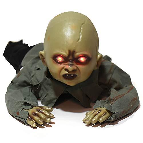 MUKEE Halloween Requisiten Krabbeln Zombie Ghost Skeleton Animierte Scary Floor Man Zimmer Yard Party Halloween Requisiten Dekorationen