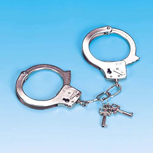 Andrea Moden 0426/2 Handboeien, metaal, politie, FBI, struiken, gevangen, veiligheidsdienst, themafeest, carnaval