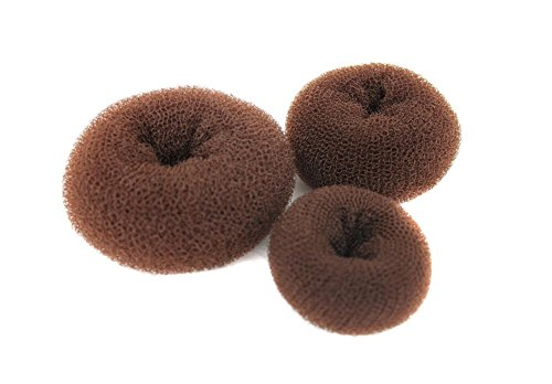 TOPWEL 3PCS Set(1 Large+1 Middle+1 Small) Donut Buns Doughnut Shaper (Brown)