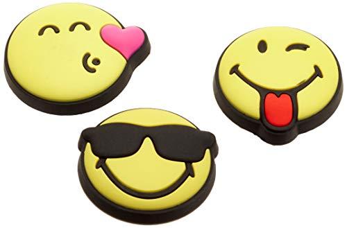 Crocs Unisex Smiley 3er Pack Schuhanhänger, Mehrfarbig, Einheitsgröße