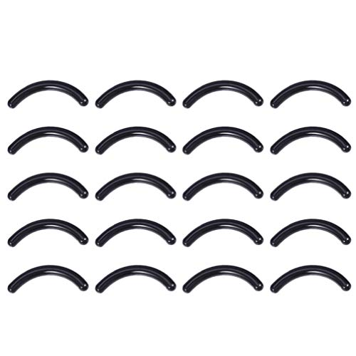 Minkissy 100Pcs Silicone Cils Recourbe Coussinets de Remplacement Cils Recourbe Coussinets pour Recourbe-Cils Universel (Noir)