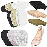 12 pares Heel Grips Liner, AIFUDA Almohadillas de tacón alto Tacón alto, antepié Inserciones de cojines para Zapatos sueltos Protección para el cuidado de los pies