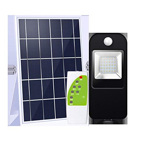 Luz de inundación solar Lámpara de exterior 30 LED 500 LM con control remoto Iluminación de carretera impermeable Luz de pared solar, sensor de movimiento para carretera, granja, estacionamiento