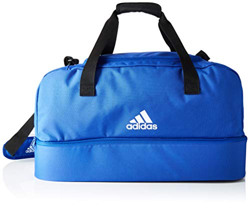 adidas Tiro Dufflebag Bottom Compartment M Sac en toile Bold Blue/White FR : Taille Unique (Taille Fabricant : Taille Unique)