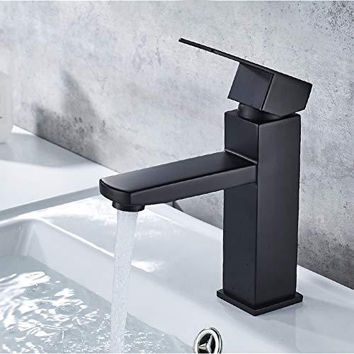 Grifo mezclador para baño (cuerpo de latón, 2 mangueras de conexión)