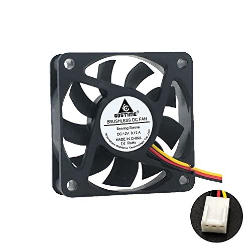 YUXIwang USB Mini Fan 6015 Ventilador sin escobillas DC 5V 12V 24V 60x60x15mm PC PC CASA CPU Ventilador de enfriamiento 6CM 60mm USB 2PIN 3PIN FANSE DE ROOLER ENVÍO ENVÍO (Color : 12V 2510 3Pin)