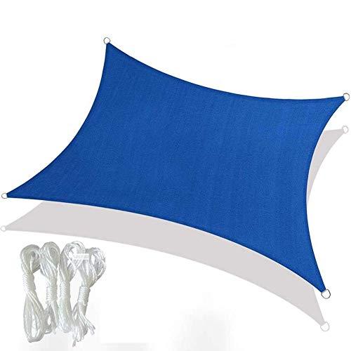 Sombra Paño Rectángulo Sombra de Sol Vela Protector Solar Transpirable Toldo Toldo para jardín al Aire Libre Patio Patio Fiesta Bloque UV
