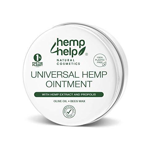 Universal Hanf-SALBE Hautpflege Mit BIO-Hanfsamenöl, PROPOLIS unraffiniert und Bienenwachs 100ml. Für die intensive Haut-Pflege als Körper Wund-Salbe