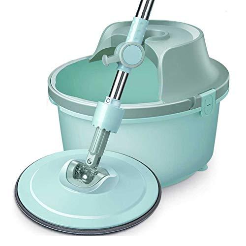 Adesign Suministros de Limpieza de Pisos SPIN MOP - Mopas de Limpieza de Spinning de Acero Inoxidable y Kit de Limpieza para el hogar para Pisos de Madera y Azulejos