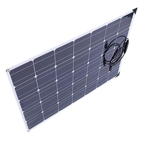 Ausla 150W Solamodule Monokristalline, 30 Grad Flexibles Solarpanel, mit 20A Controller und 10M Verlängerungskabel, für Wohnmobil, Camping, Gartenhaus