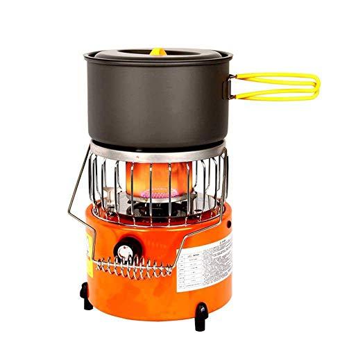 XALO Mini Calentador de Pesca de Hielo al Aire Libre, Multi Calentador de Gas Estufa de Parrilla Calentador de Gas licuado Calentador portátil, 2000W bajo Consumo de energía