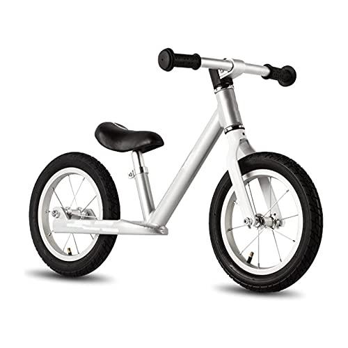 XTZJ 12 'Bicicleta de balance de niños con reposapiés para niñas y niños, edades de 18 meses a 5 años, bicicleta de entrenamiento de niños pequeños con neumático sin aire y altura de asiento ajustable