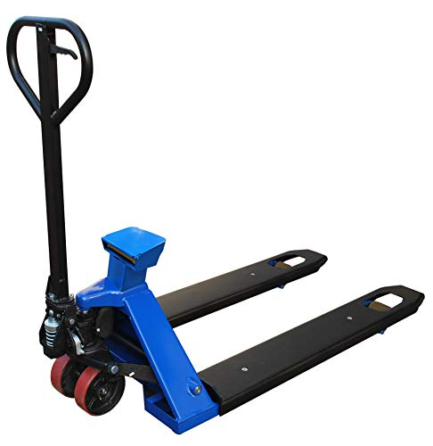 Pake Handling Tools - Scale Pallet Truck, 4400-Pound Capacity, 45'' x 27''