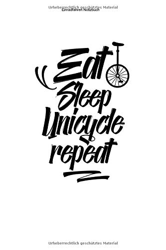 Einradfahren Notizbuch: 100 Seiten | Karierter Inhalt | Unicycle Geschenk Einradfahrerin Hobby Fahren Liebhaber Fahrer Einräder