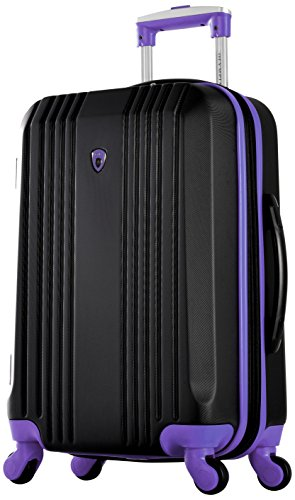 Olympia Apache Ii 21' Carry-on Spinner, BLACK+PURPLE, One Size