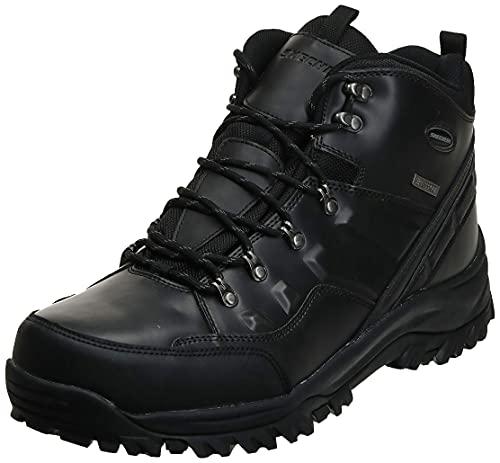 Skechers Men's Relment - Traven High Rise Hiking Boots, Black Black Bbk, 8 UK