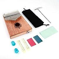 フィンガーサムピアノ、マホガニーサムピアノ、ミントグリーン実用的で耐久性のある快適なピアノショップエンターテインメント音楽愛好家のための音楽制作(Wood color)